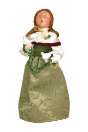Two Turtledoves Woman - collectible limited edition mixed media caroler figurine by Byers' Choice, Ltd.
