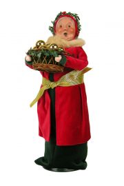 Old English Mrs. Claus - collectible limited edition mixed media caroler figurine by Byers' Choice, Ltd.