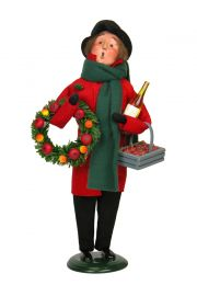 Man Shopper - Assorted - collectible limited edition mixed media caroler figurine by Byers' Choice, Ltd.