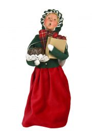 Woman Shopper - Assorted - collectible limited edition mixed media caroler figurine by Byers' Choice, Ltd.