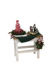 Candy Cane Table - collectible limited edition doll furniture accessory by Byers' Choice, Ltd.