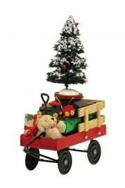 Red Wagon with Toys - collectible limited edition doll accessory by Byers' Choice, Ltd.