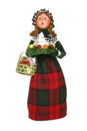 Gifting Family Woman - collectible limited edition mixed media caroler figurine by Byers' Choice, Ltd.