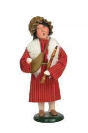 Shepherd Boy - collectible limited edition mixed media caroler figurine by Byers' Choice, Ltd.