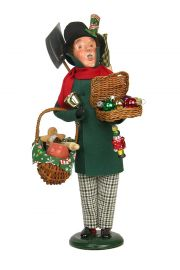Christmas Peddler - collectible limited edition mixed media caroler figurine by Byers' Choice, Ltd.