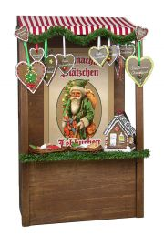 Gingerbread Market Stall - collectible limited edition doll accessory by Byers' Choice, Ltd.