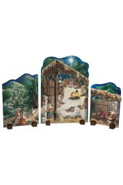 Nativity Backdrop - collectible limited edition doll accessory by Byers' Choice, Ltd.