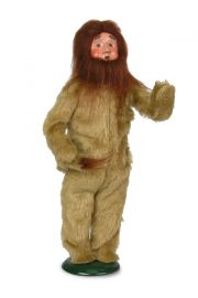 Cowardly Lion - collectible limited edition mixed media caroler figurine by Byers' Choice, Ltd.