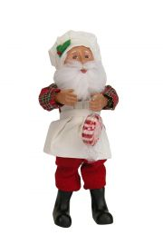 Baking Santa Kindle - collectible limited edition mixed media caroler figurine by Byers' Choice, Ltd.