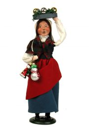 Woman Selling Glass Ornaments - collectible limited edition mixed media caroler figurine by Byers' Choice, Ltd.
