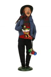 Man with Glass Ornaments - collectible limited edition mixed media caroler figurine by Byers' Choice, Ltd.