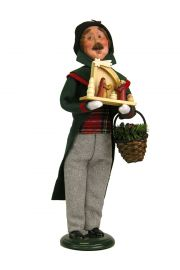 Man Decorating - collectible limited edition mixed media caroler figurine by Byers' Choice, Ltd.
