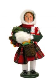Girl Decorating - collectible limited edition mixed media caroler figurine by Byers' Choice, Ltd.