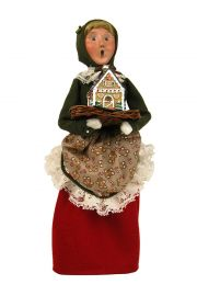 Woman with Gingerbread - collectible limited edition mixed media caroler figurine by Byers' Choice, Ltd.