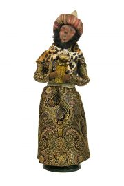 Golden Wise Man with Gold - collectible limited edition mixed media caroler figurine by Byers' Choice, Ltd.