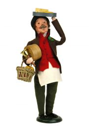 Cheese Monger - collectible limited edition mixed media caroler figurine by Byers' Choice, Ltd.
