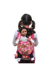 "Pink child's backpack designed with 18"" Doll carrier and 18"" doll sleeping bag for American Girl¬."