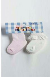 Pink and White Socks for Baby Dolls from Madame Alexander
