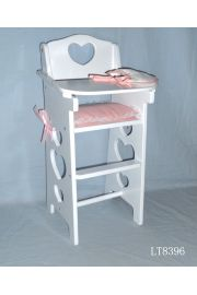 Doll High Chair with Accessories