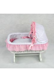 The Suzanne classic Rocking Doll Bed Cradle Rocker Crib Cot