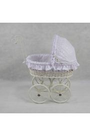 The Elizabeth Wicker Doll Carriage Buggy Stroller Pram