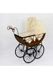 The Caroline Heirloom Doll Carriage Pram Buggy Stroller