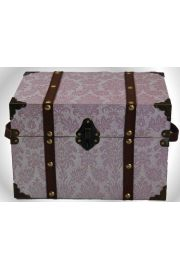 Doll Steamer Trunk for 18in American Girl Dolls Pretty in Pink