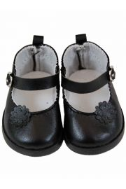 Black dress shoes for American Girl Doll Clothes