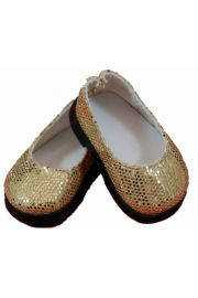 Gold slip on shoes for American Girl Doll Clothes