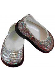 Silver slip on Shoes for American Girl Doll Clothes