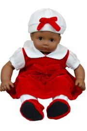 Red Velvet Doll clothes outfit for 15in Bitty Baby