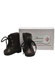 "Brown Lace Up Boots shoes for 18"" doll clothes. High Quality Doll Clothes & Accessories for 18"" dolls Fits American Girl¬ Doll Clothes"