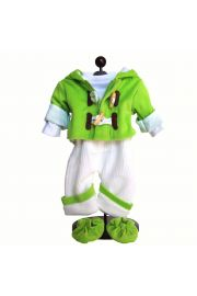 "Green Fleece Overall outfit 15 & 18"" doll clothes. High Quality Doll Clothes & Accessories for 18"" dolls Fits American Girl Doll Clothes."
