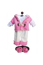 Pink Bitty Baby Doll Clothes. Quality fleece outfit for 15 inch dolls.