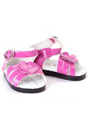"Pink Strappy Sandals for 18"" doll clothes.  High Quality Doll Clothes & Accessories for 18"" dolls."