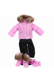 "Pink Snow suit For 15""  Baby Dolls,  Baby Girl Doll clothes."