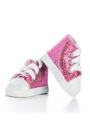 "Pink High Top Sneakers for 18"" doll clothes. High Quality Doll Clothes & Accessories for 18"" dolls."