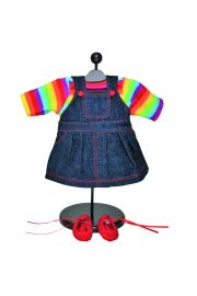 "Twin Rainbow Skirt 15"" doll clothes.  High Quality Doll Clothes & Accessories for 15"" dolls,  baby Doll Clothes."