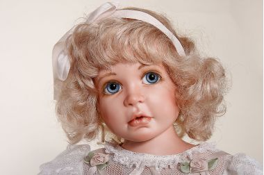Collectible Limited Edition Porcelain soft body doll Eloise by Karen Blandford