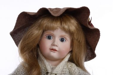 Pauper - limited edition porcelain soft body collectible doll  by doll artist Cindy McClure.