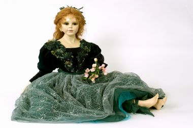 Collectible Limited Edition Porcelain soft body doll Emilia by Juanita Montoya