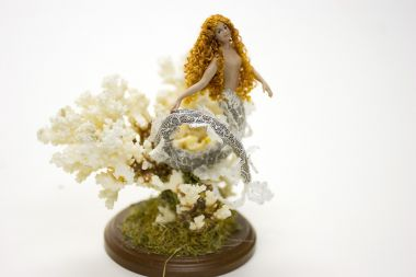 Mermaid MR51 - collectible one of a kind porcelain art doll by doll artist Michelle Robison.