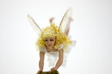 Acrobat Fairy - collectible one of a kind porcelain art doll by doll artist Michelle Robison.