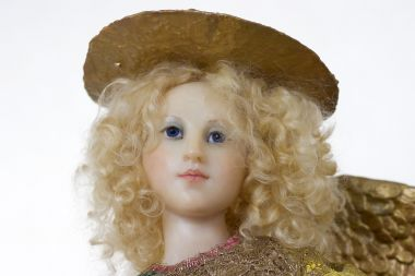 Collectible One of a Kind Polymer Clay doll Angel by Avigail Brahms