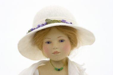 Gwyneth - collectible limited edition felt molded art doll by doll artist Maggie Iacono.