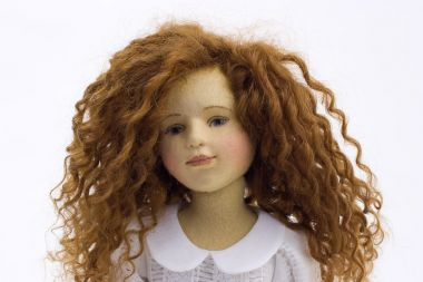 Melissa - collectible limited edition felt molded art doll by doll artist Maggie Iacono.