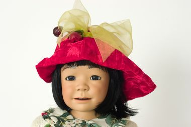 Baobei Treasure - collectible limited edition porcelain soft body art doll by doll artist Julia Rueger.