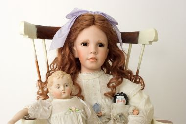 Collectible Limited Edition Porcelain soft body doll Yesterday's Child 1 by Linda Mason