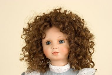 Claudia II - collectible limited edition porcelain soft body art doll by doll artist Gaby Rademann.