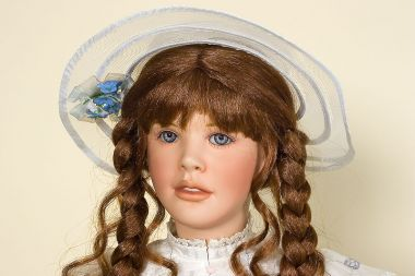 Collectible Limited Edition Porcelain soft body doll Delphine by Gwen McNeill